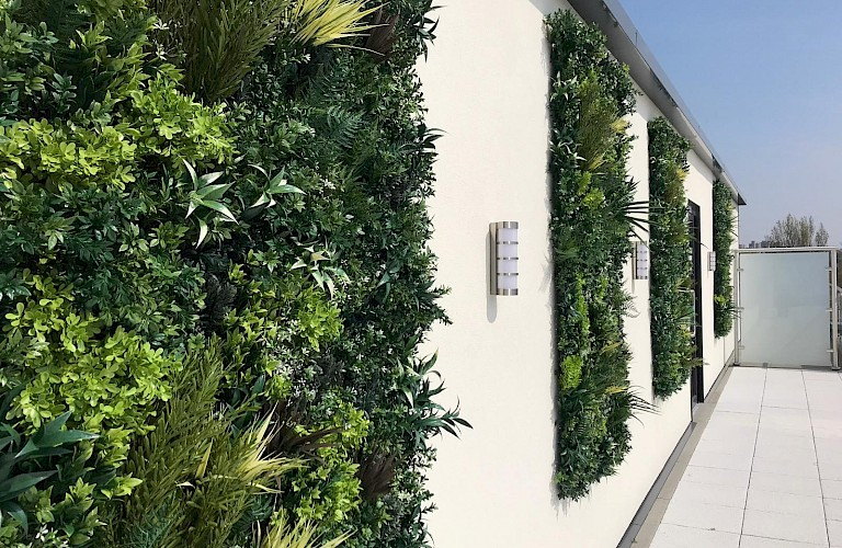 Artificial Green Wall Panels - Supplied & installed for Castle View Retirement Village