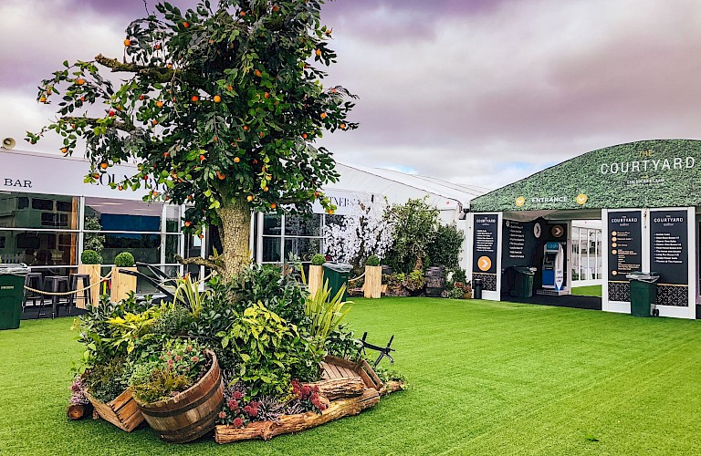 Artificial Apple Trees - Supplied & installed at Cheltenham Festival 2020