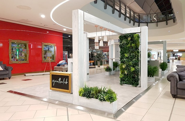Artificial Plants & Green Walls - Supplied for Sofa Club's pop-up shop