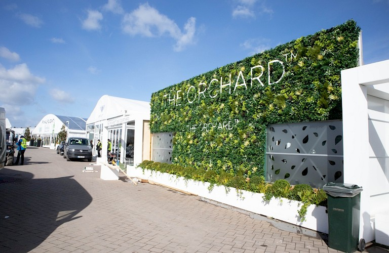 Artificial Green Walls - Supplied & installed for The Jockey Club at Cheltenham Festival 2019